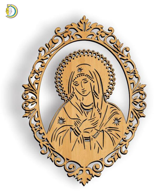 Our Lady Laser Cutting CDR DXF Free Vector