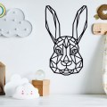 Rabbit Face SVG Happy Easter SVG Bunny Head Silhouette Free Vector