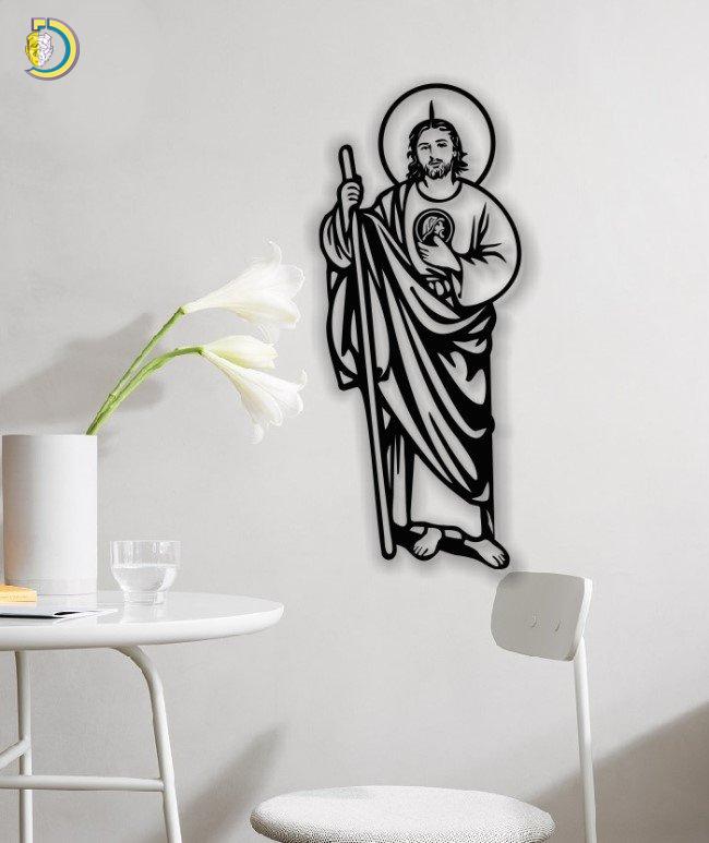 Saint Jude Wall Decor Wall Art Free DXF CDR SVG Vector File