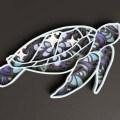 Sea Turtle Mandala Free Vector for Laser Cutting