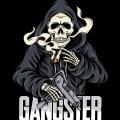 Skull Gangster Silhouette Sticker PDF Print Vector