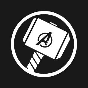 Thor's Hammer Decal, Thor Decal, Avengers Symbol Logo