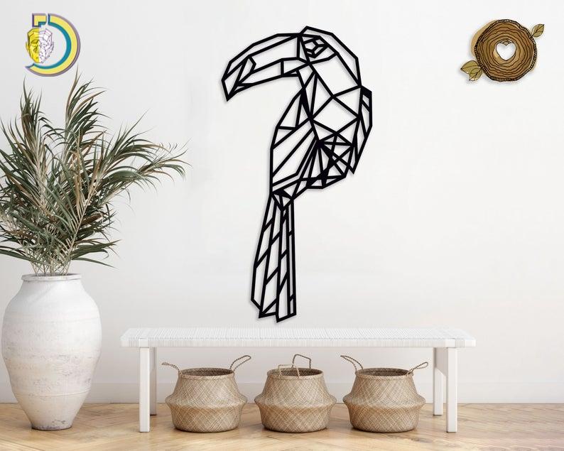 Toucan Ornament SVG Big Bird SVG Wall Decor Free Vector