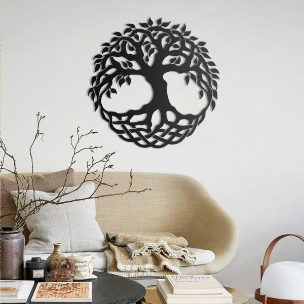 Yggdrasil Metal Wall Art, Celtic Wall Art, Pagan Art
