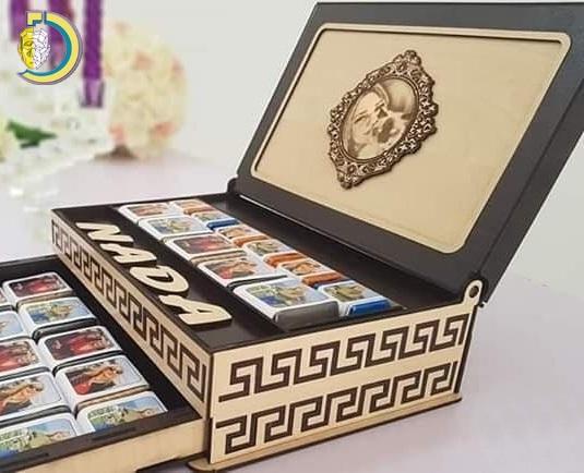 Laser Cut Fancy Drawer Box for Wedding Gift Free Vector