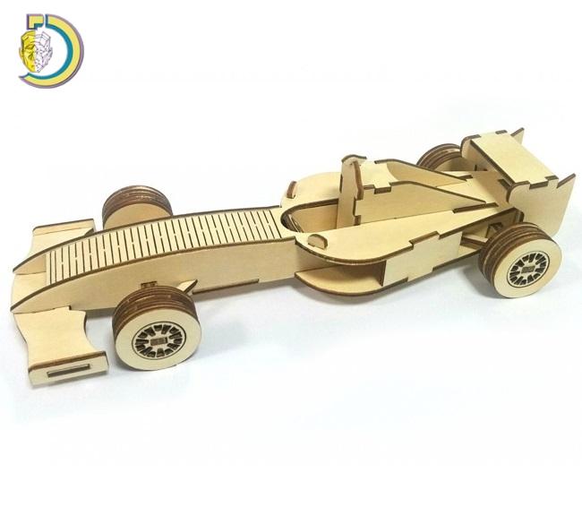 Laser Cut Formula F1 Car Toy PDF Template