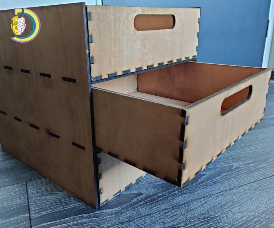 Laser Cut Ikea Kallax Drawer 5mm Plywood Free Vector
