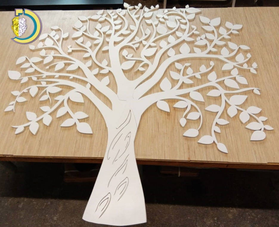 Laser Cut Tree CNC Design CDR DXF Free Vector