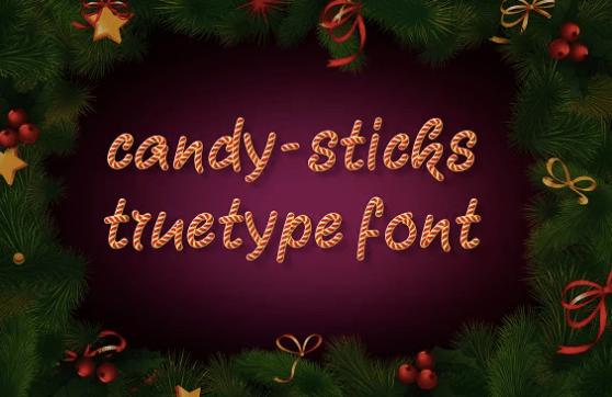 Candy sticks fonts