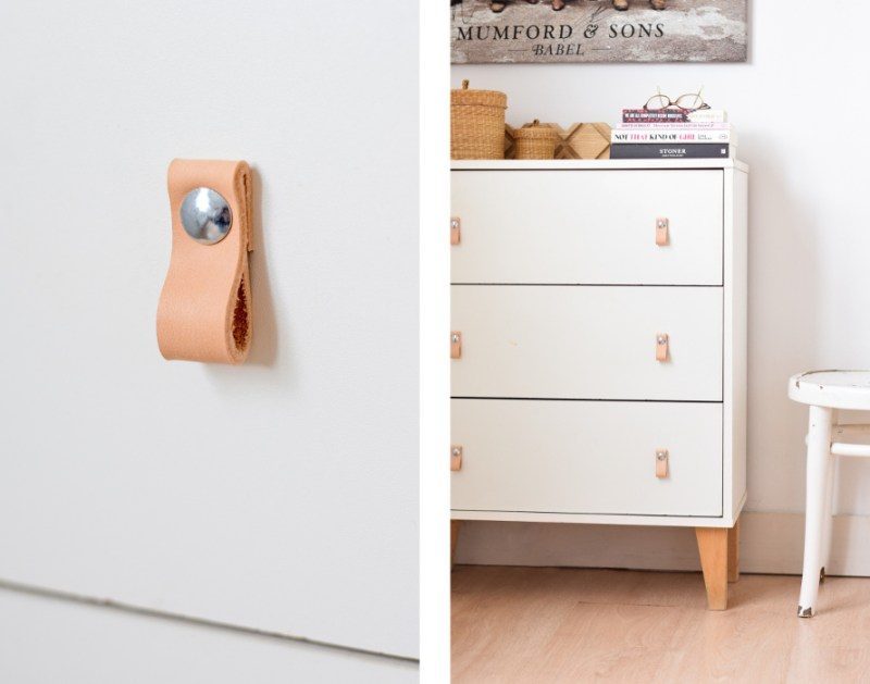 Leather pulls DIY - leren handvaten