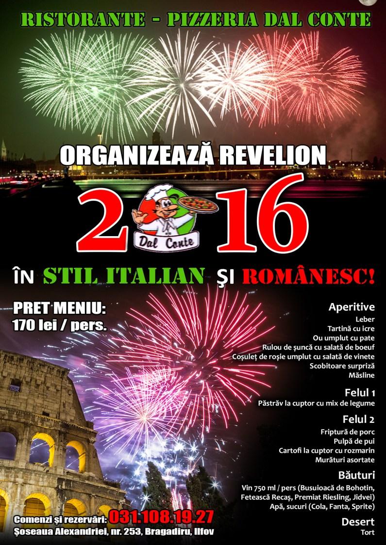 Poster Revelion 2016 Dal Conte