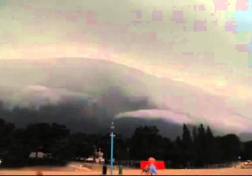 Sunete bizare în timpul unei furtuni în Finlanda