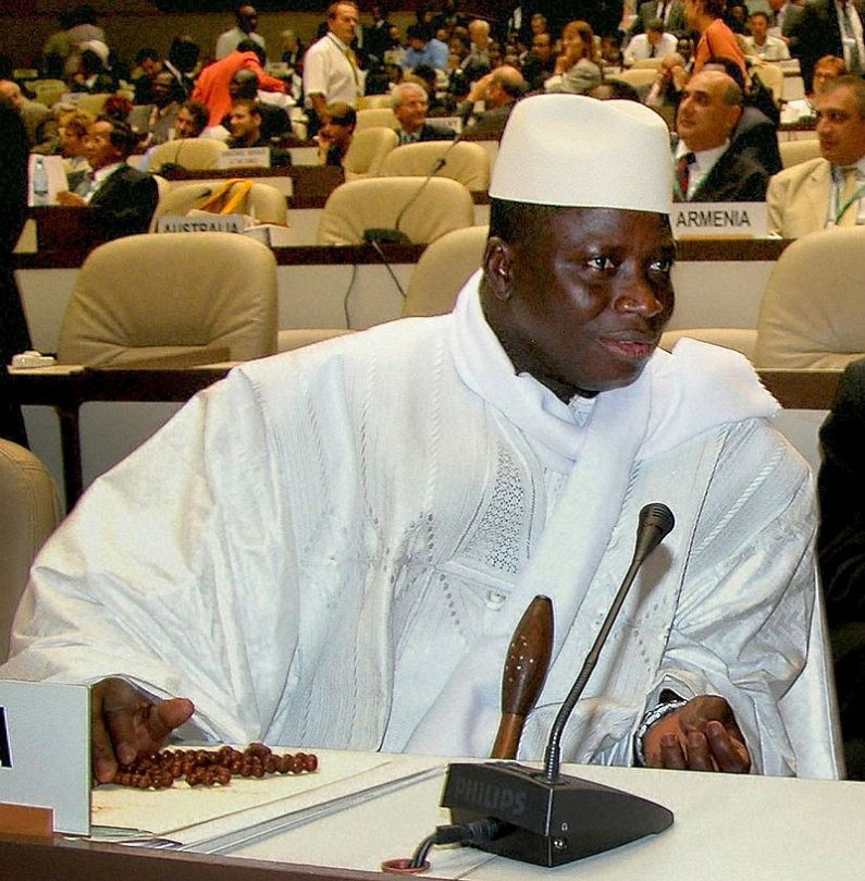 Preşedintele Gambiei Yahya Jammeh. Foto IISD/Earth Negotiations Bulletin, sursă Wikipedia.