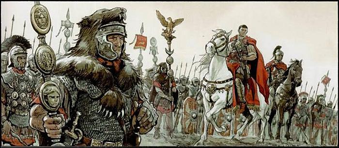 """Menținerea """"păcii romane"""" la Rhin, autopie"""