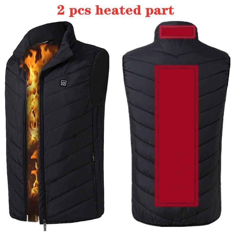Black 2 Pcs Heated