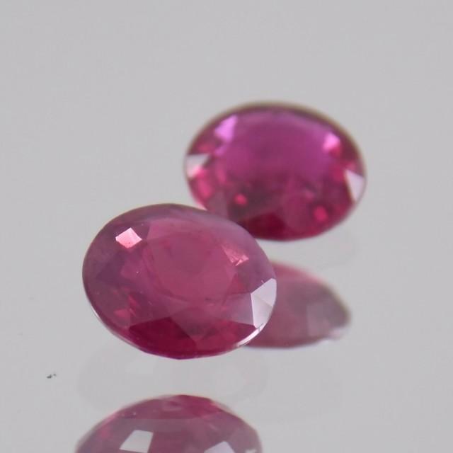 1630ct Round Ruby Pair