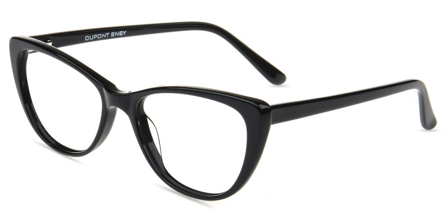 Cat-eye plastic frame glasses (DBSN62358A) which I bought from Firmoo