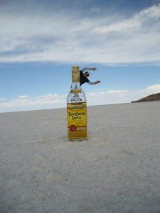 Spaßbilder in Uyuniwüste- Rum