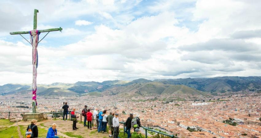 Blick über Cusco.
