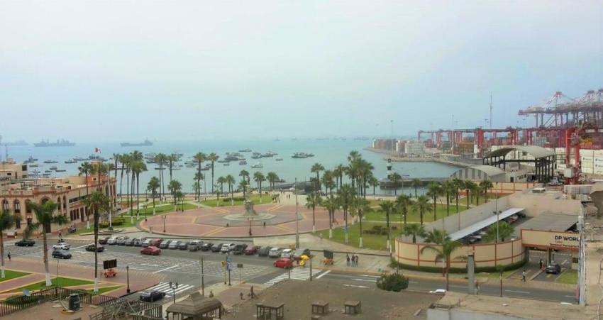 Der Hafen von Callao.