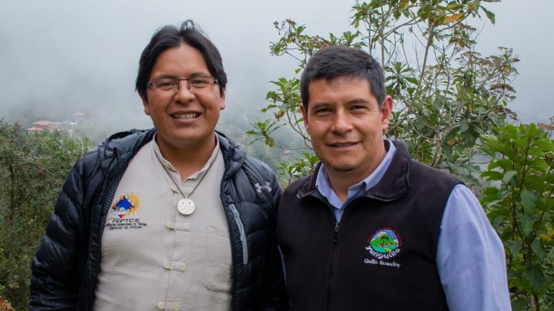 Galindo und Germán sind treibende Kräfte für den gemeinebasierten Tourismus in Yunguilla.