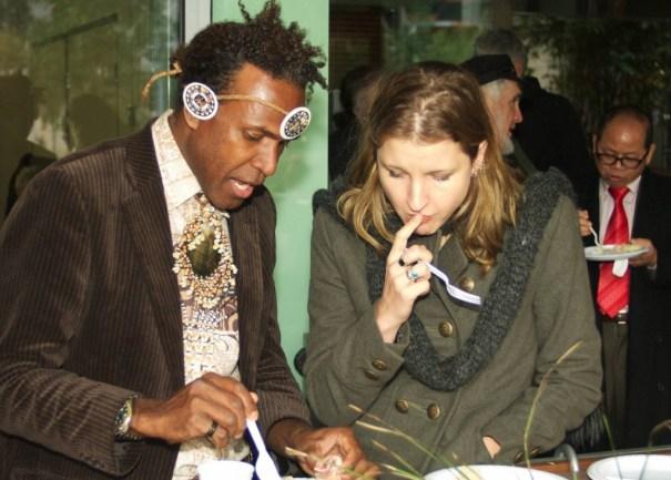 Matt Gale (Solomon Islands) with Dr Cammi Webb-Gannon (Research Fellow, University of Western Sydney)