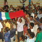 002. Summit participants praying for Maluku