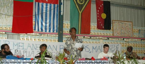 Chief Shem Rarua (Spokesperson, Maraki Vanuariki Council of Chiefs), Organising the agenda of the summit.