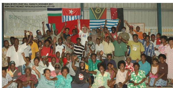 News that the WPNA delegation, detained by Immigration in Suva, had left Fiji