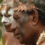 015. Maraki Vanuariki Council of Chiefs preparing to meet delegation from West Papua