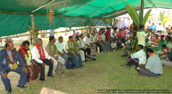 Tongoa Island community welcomes West Papua delegation to Farea ki VETE