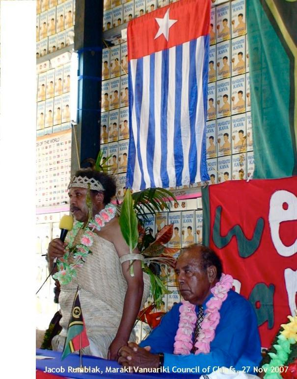Jacob Rumbiak, Induction as Paramount Chief, with Domingos Arronggear