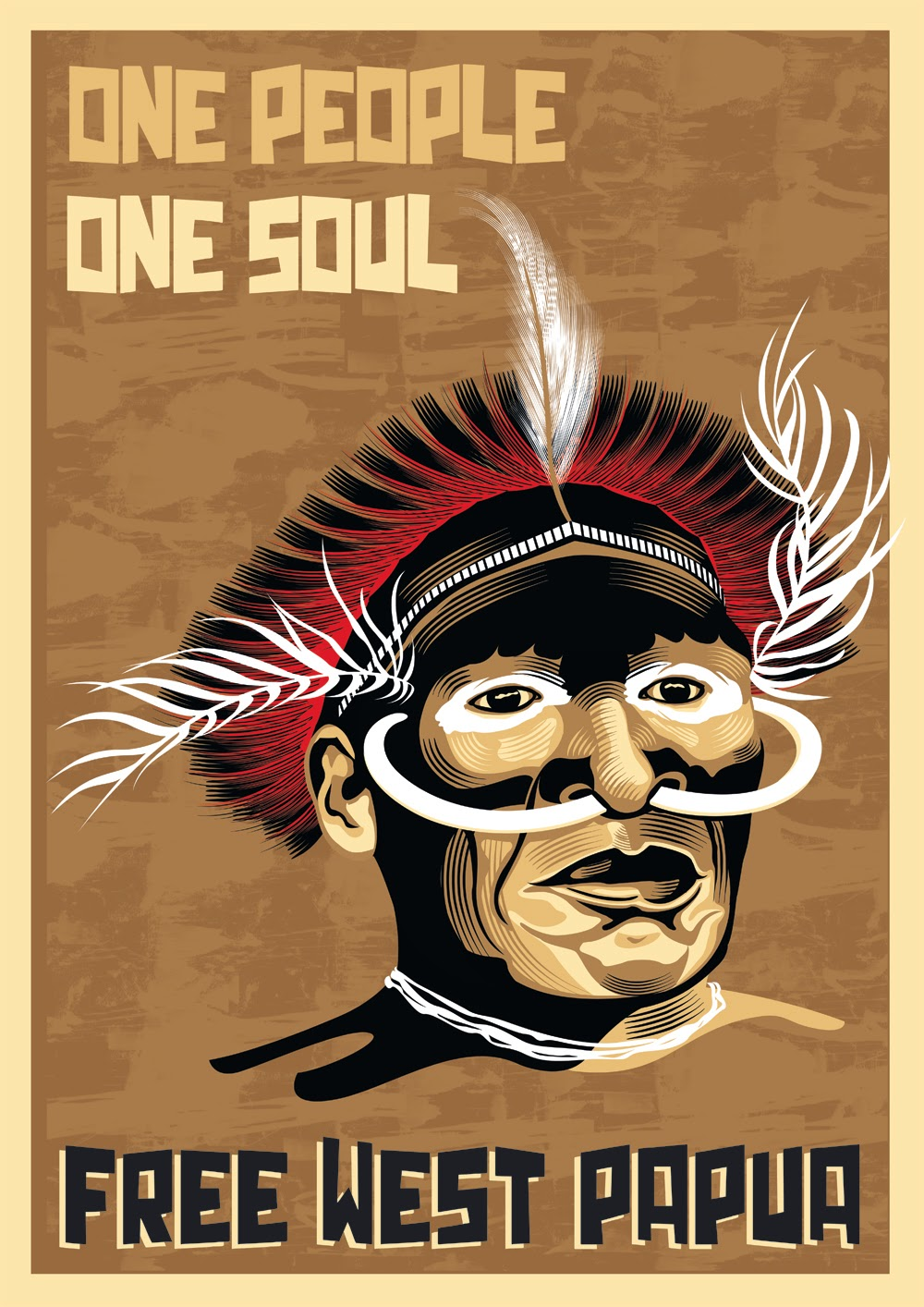 Design poster k3 - Ona Filloy One People One Soul Portrait Of A Dani Tribesman From The West Papua Highlands Printed On Hahnemuhle Photo Rag Using Epson Ultrachrome K3 Inks