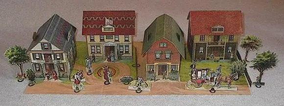 Cheap buildings for a train layout