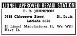 An ad for E. R. Johnston from 1948