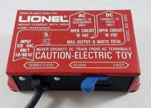 Lionel DC transformer