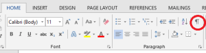 Clean up the document after you landscape part of a Word document
