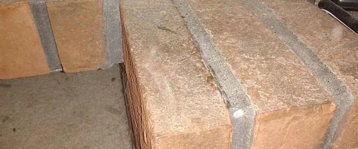 Loose brick repair with epoxy