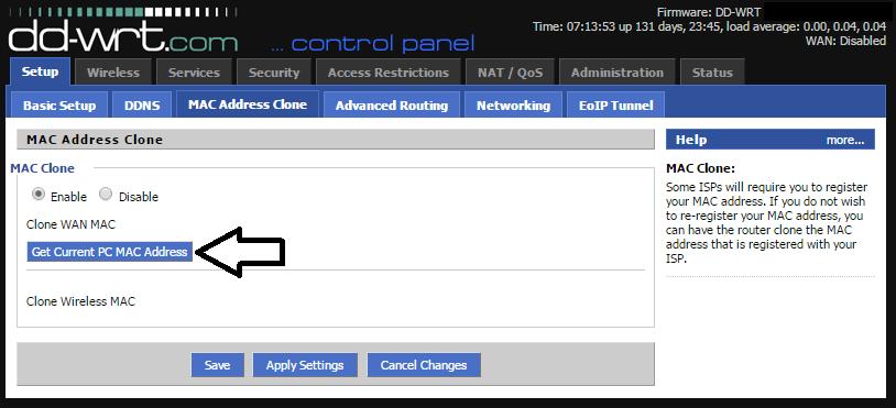 Clone MAC address
