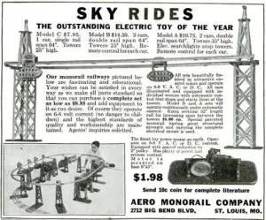 Aero Monorail Company ad, 1932