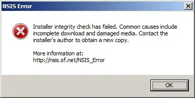 Solve the NSIS error