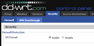 dd-wrt firewall