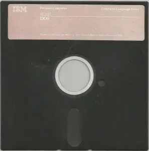 This nondescript floppy contains PC-DOS 1.0, the earliest released version of Microsoft's MS-DOS.