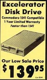 Commodore 1541 vs clones: Excelerator Plus