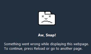 Chrome aw snap
