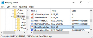 Optimize Windows 10 menu responsiveness