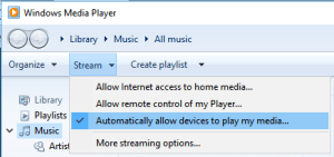 Stream from Windows Media Player to Android