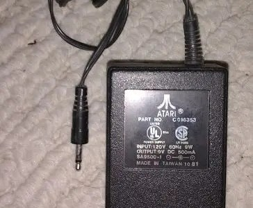 Atari 2600 power supply specs