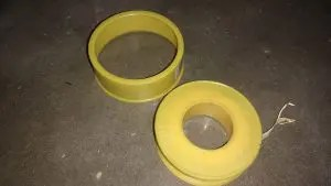 color of Teflon tape suitable for gas fittings
