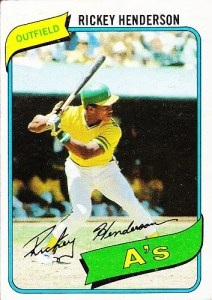 Most valuable baseball cards of the 1980s: Rickey Henderson